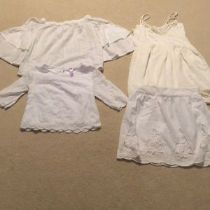 Collection of women's tops, skirt and dress.